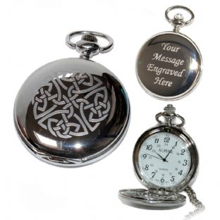 Celtic Knot (1) Pocket Watch Arabic Numerals Quartz